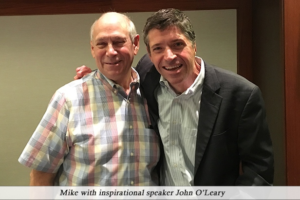 Mike with inspirational speaker John O'Leary