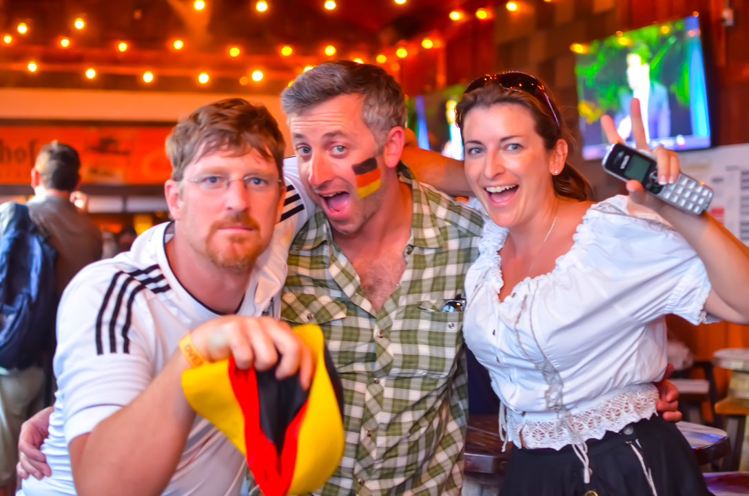 Biergarten Haus World Cup Germany vs Argentina