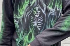Custom airbrush hoodie