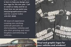Air Graphics Vinyl on your vehicles or Screen Printing for your business