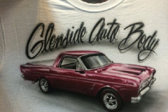 Custom Airbrushed Tshirt for Glenside Auto Body