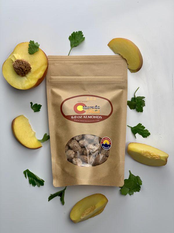 Colorado Peach flavored almonds