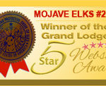 Mojave Elks Website Wins 5-Star Award From Grand Lodge