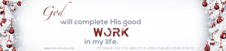 God Will Complete His Work In My Life
