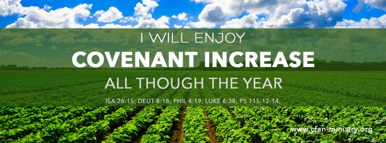 I Will Enjoy Covenant Increase All Though The Year