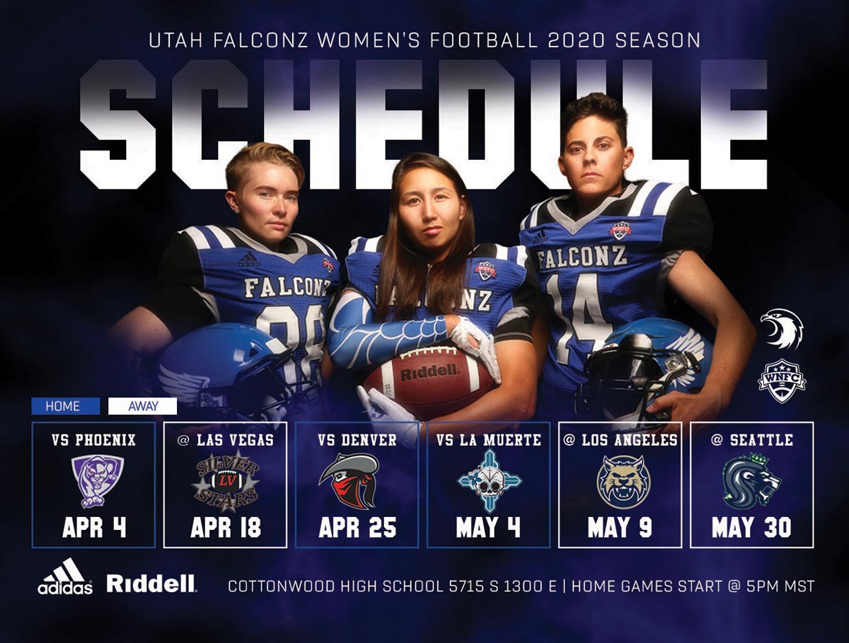 Utah Falconz Season Schedule