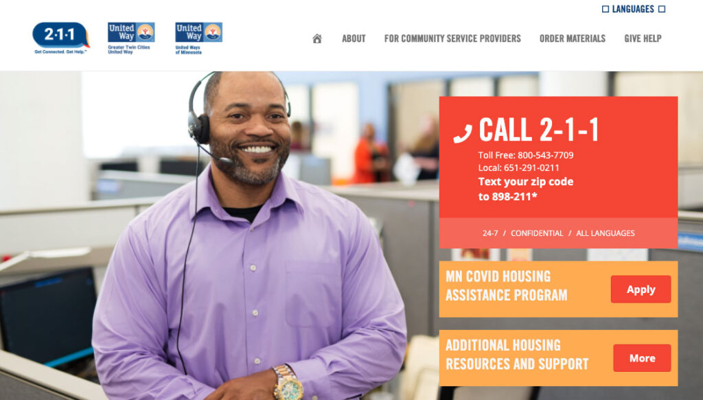 United Way 211 Website