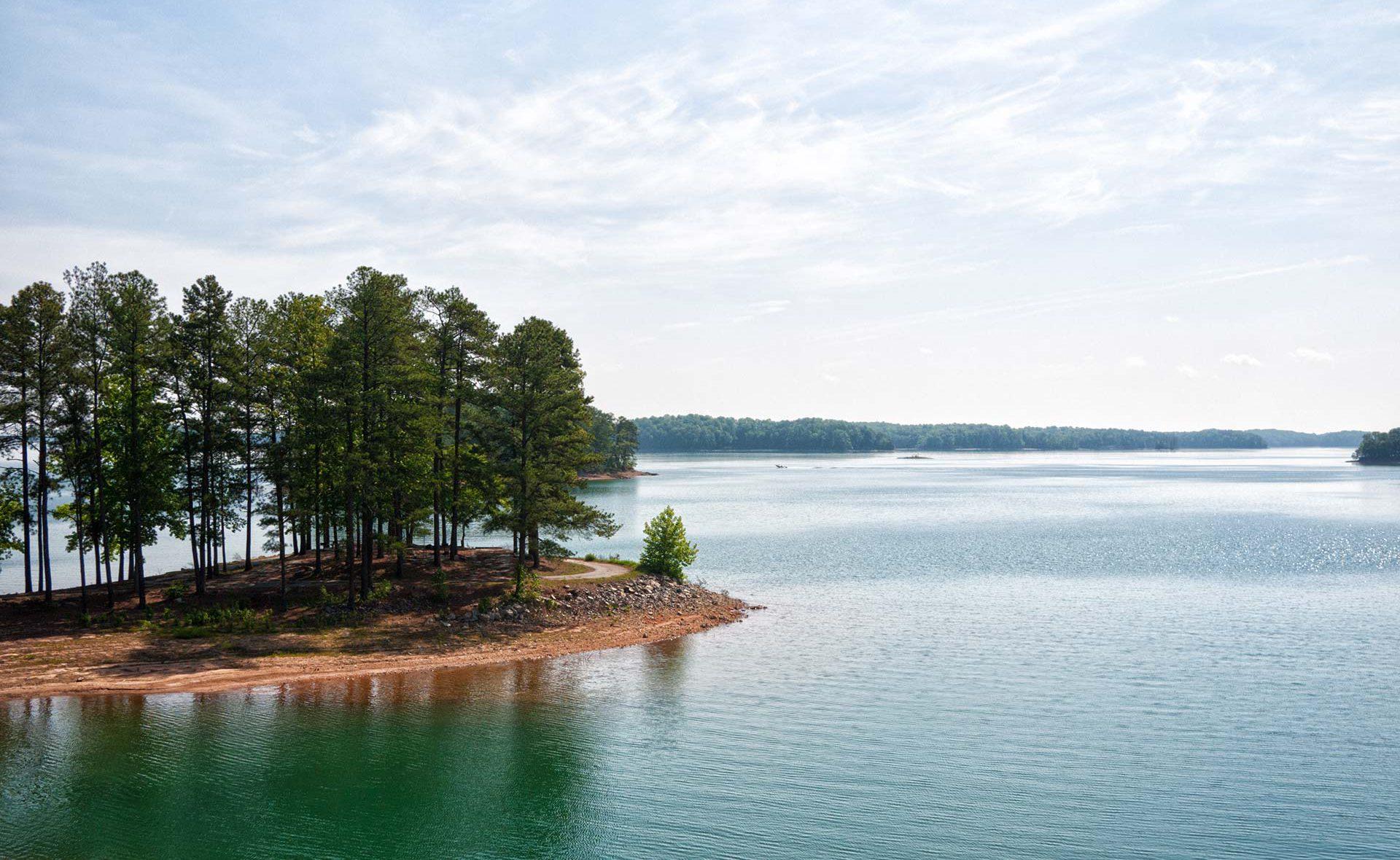 Wide angle shot of Lake Lanier
