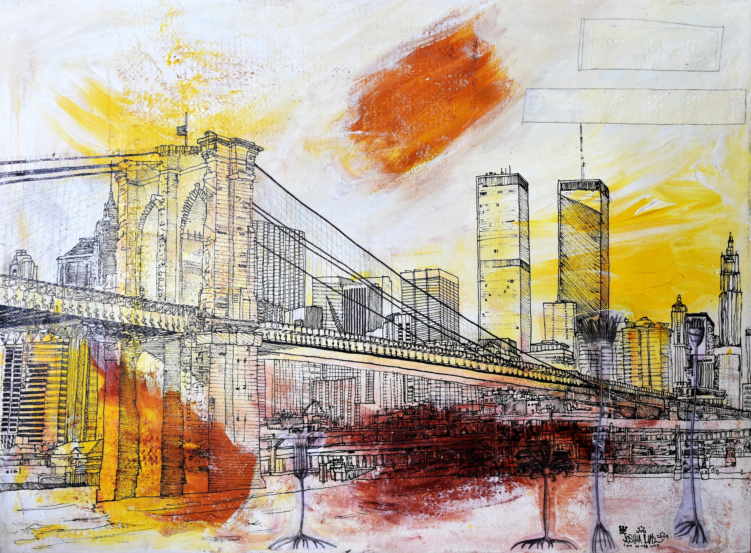 The Desert NYC Painting by JML
