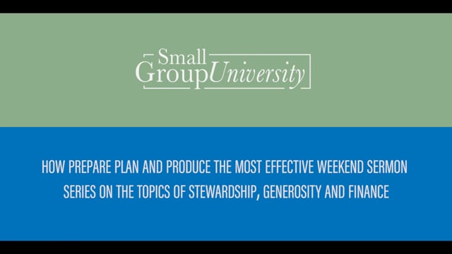 Leveraging Sermon Content for Generosity and Stewardship Initiatives | SGU