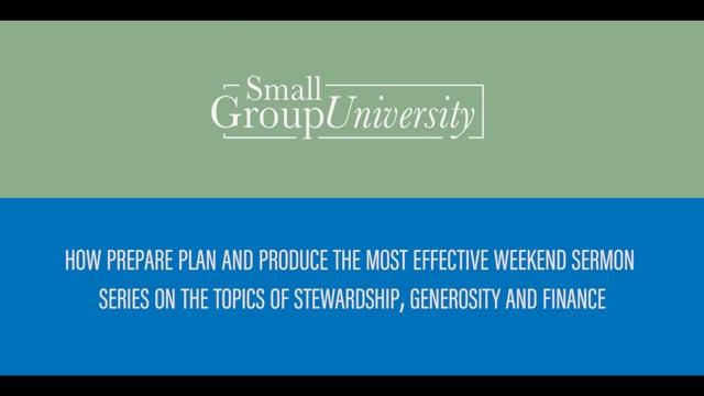 Leveraging Sermon Content for Generosity and Stewardship Initiatives | SGU