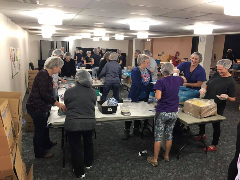 HGJWC Volunteers for Feed my Starving Children organized by the Community Service Committee
