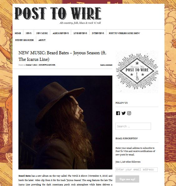 Beard Bates - Post To Wire - Joyous Season