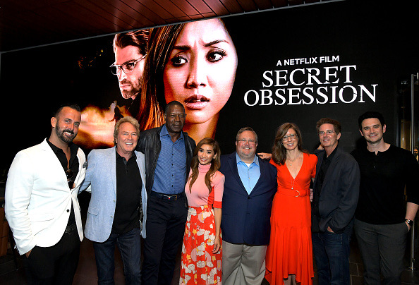 LOS ANGELES, CALIFORNIA - JUNE 26: Kraig Wenman, Barry Barnholtz, Dennis Haysbert, Brenda Song, Peter Sullivan, Christina Rogers, Jeffrey Schenck and Brian Nolan attend a friends and family screening of Netflix's 'Secret Obsession' at NETFLIX on June 26, 2019 in Los Angeles, California. (Photo by Charley Gallay/Getty Images for Netflix)