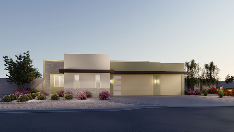 Rendering of Elevation 2A