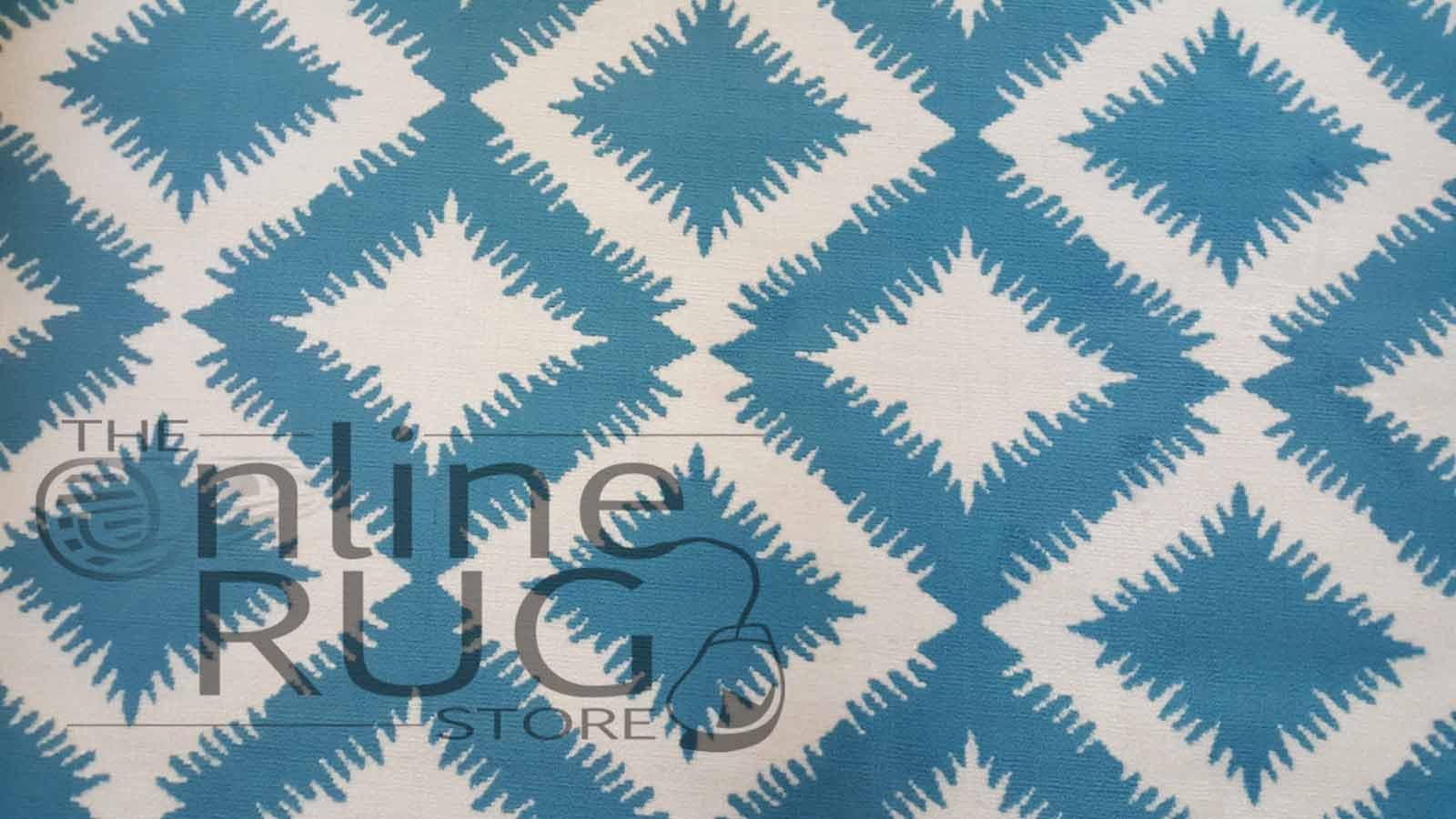 Blue White Geometric Diamond