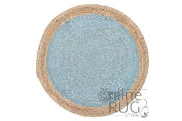 Polo Blue Jute Round