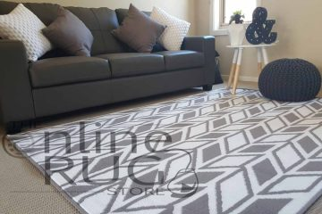 White Grey Herringbone Chevron