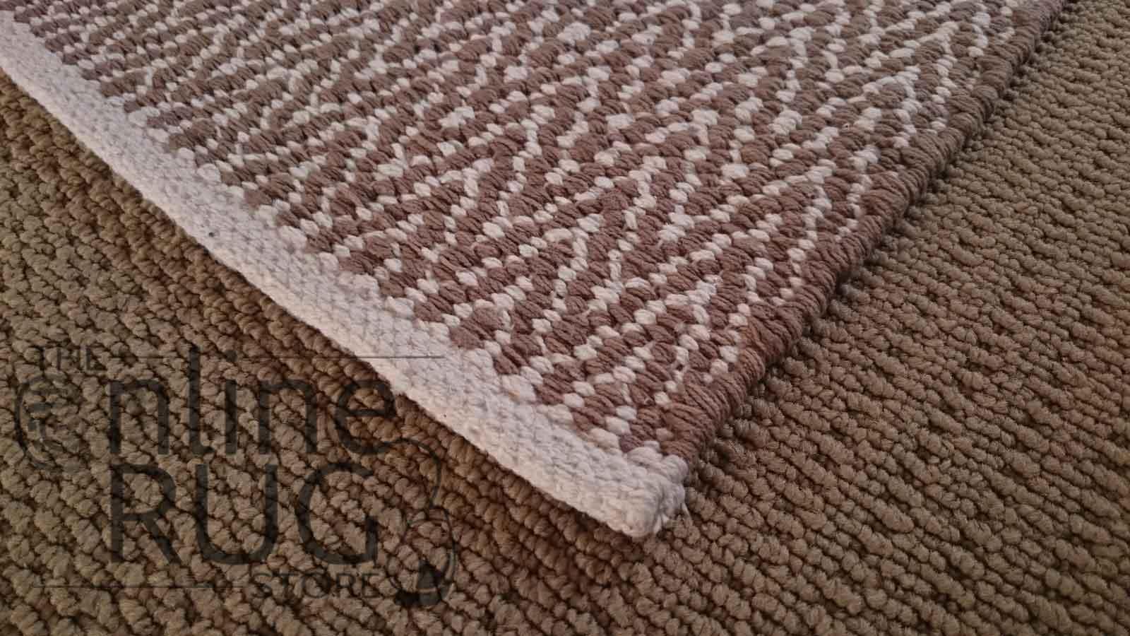 Beige Dhurrie Flat Weave