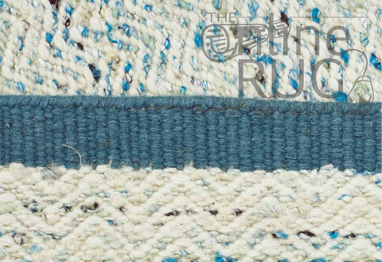 Turquoise Chevron Scandinavian Felted Wool