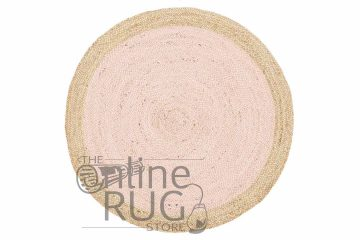 Polo Pink Jute Round