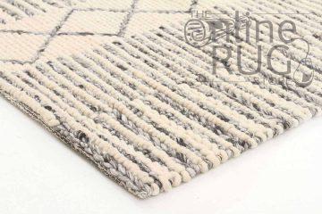 Sasha Grey Tribal Hand Woven Wool Flatweave