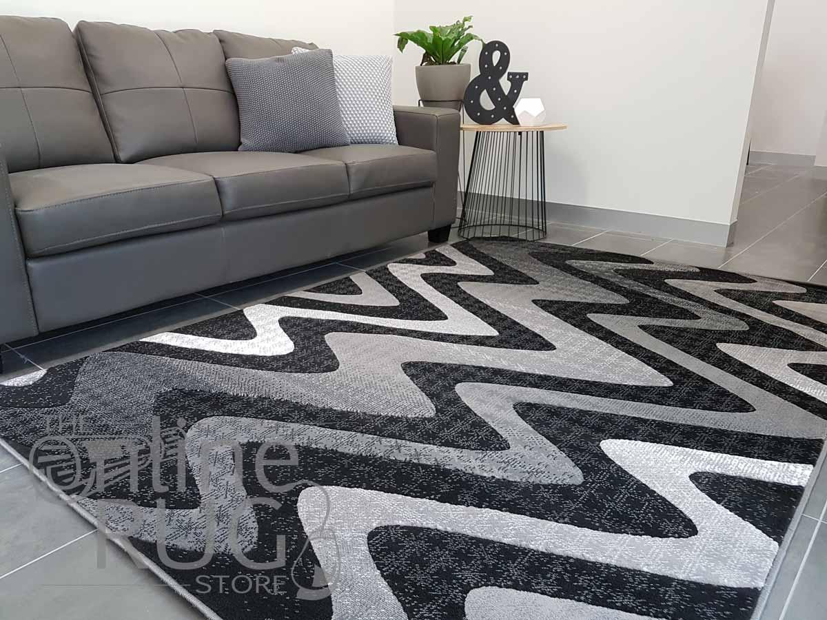 Style Black Grey Monochrome Wave