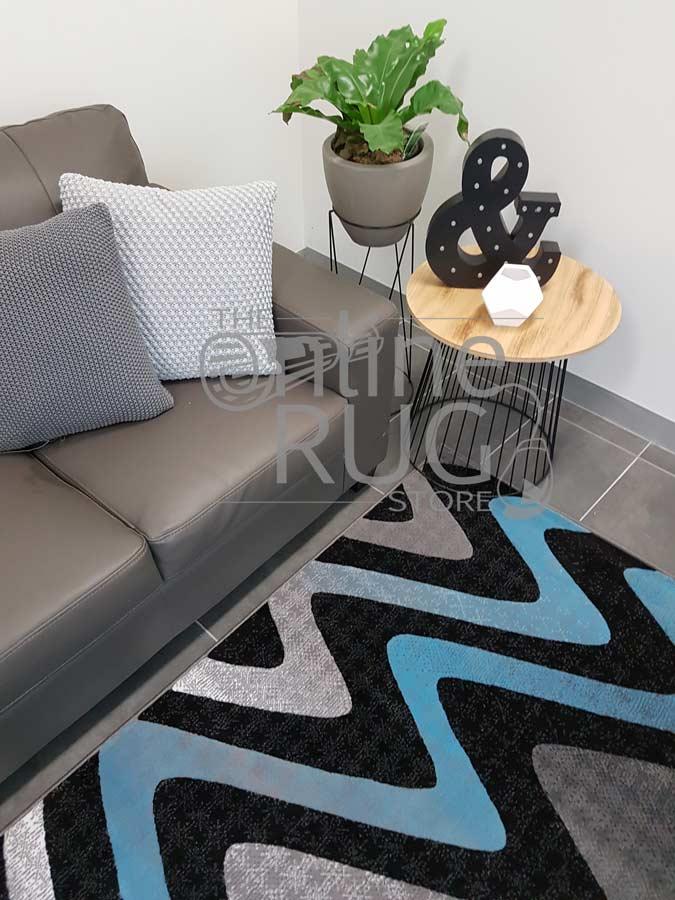 Style Blue Grey Black Wave