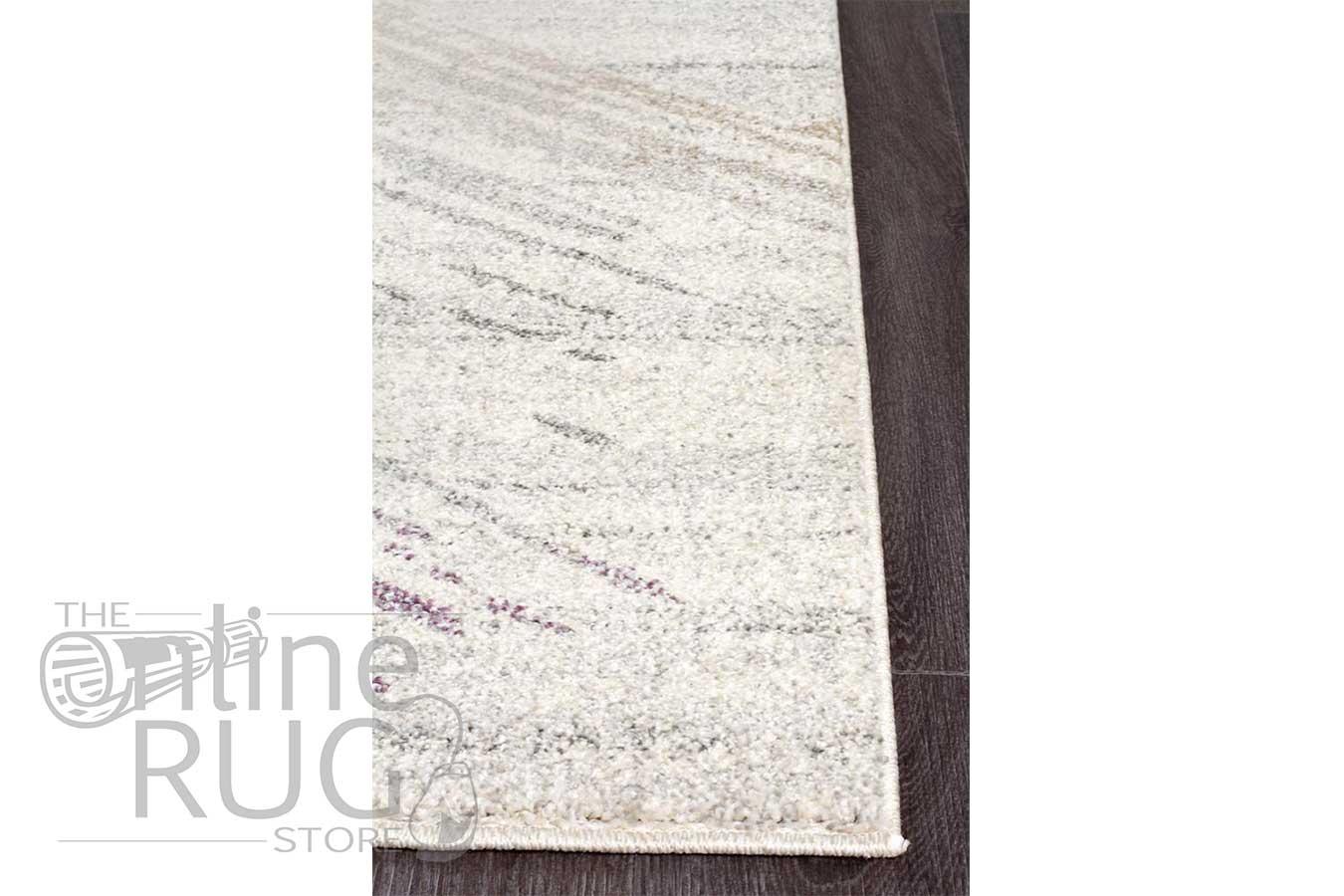 Aspire Purple Abstract Canvas Rug