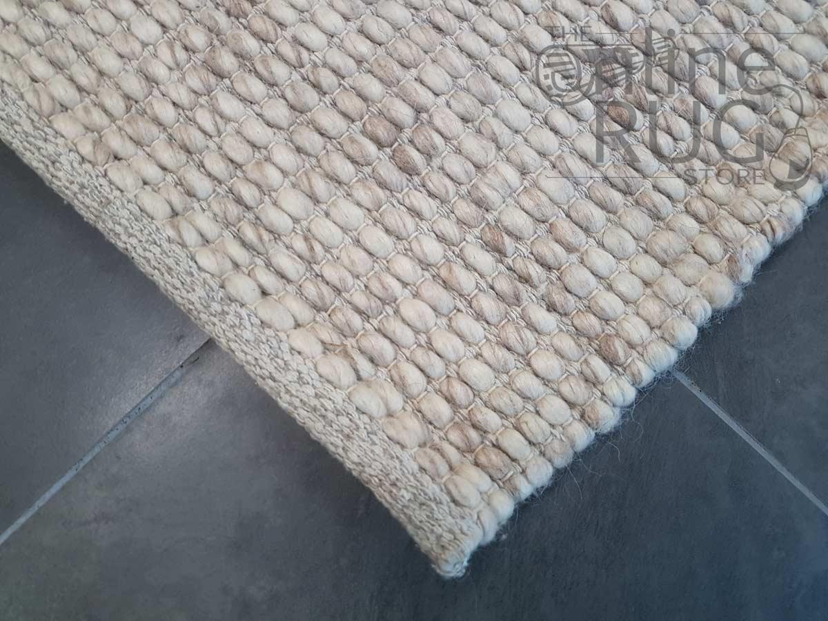 Darcy Beige Felted Wool Rug
