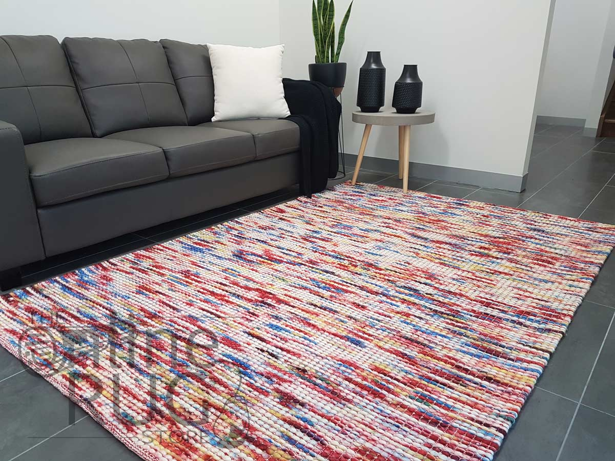 Darcy Multi-coloured Felted Wool Rug