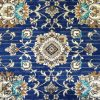 Austine Navy Blue Transitional Oriental Pattern Rug
