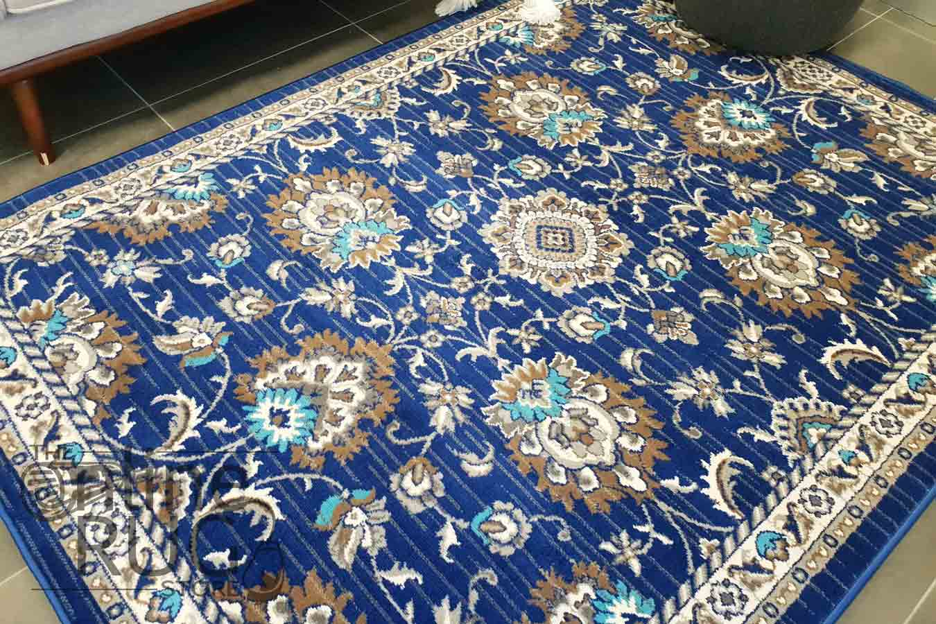 Austine Navy Blue Transitional Oriental Rug