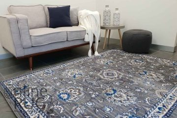 Austine Grey Blue Transitional Oriental Pattern Rug