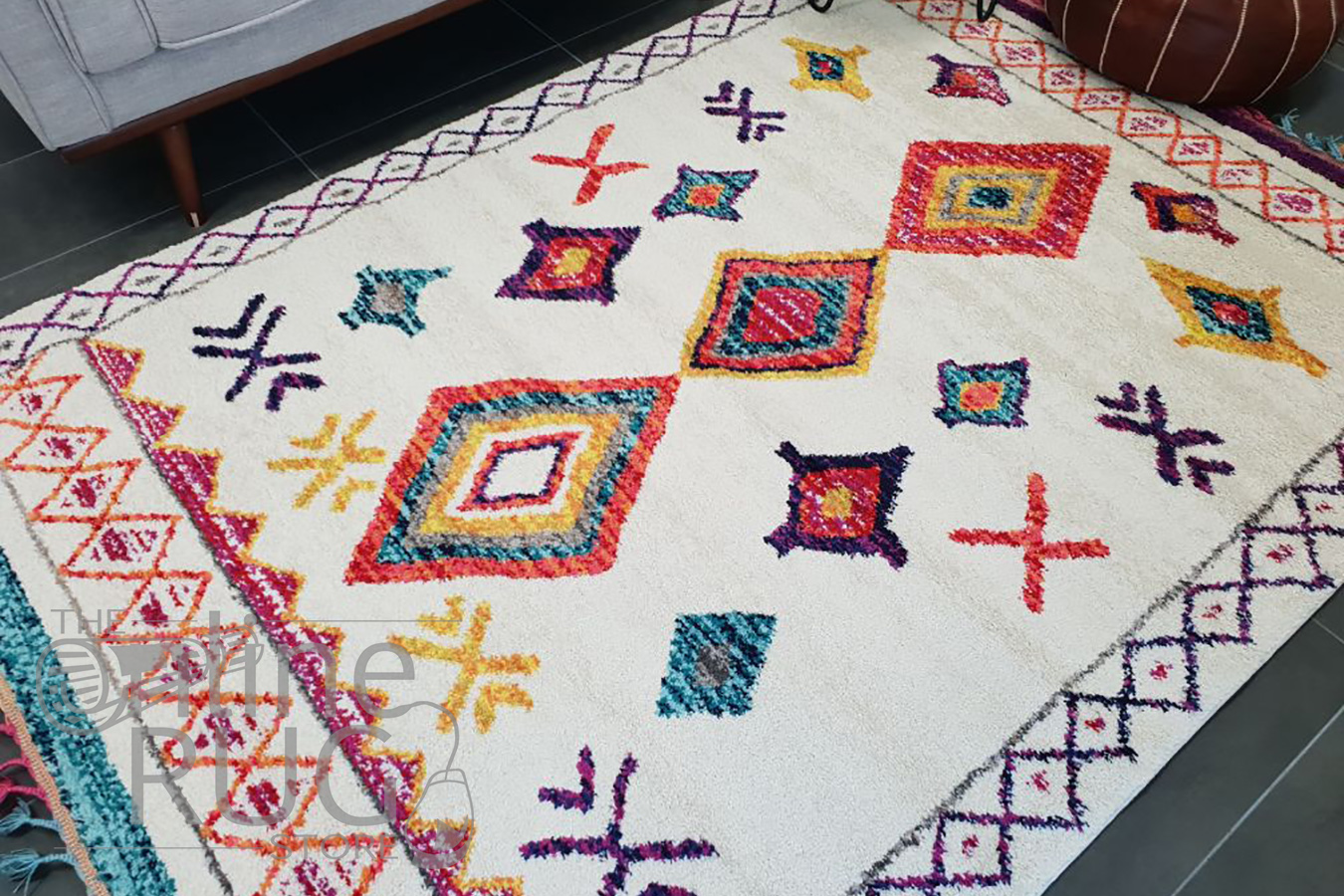 Karsha Cream Multi Coloured Bohemian Chic Tribal Rug