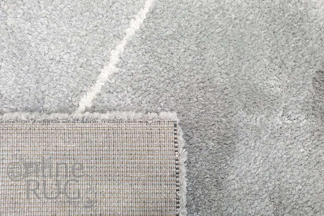 Brydie Silver Diamond Power Loomed Rug