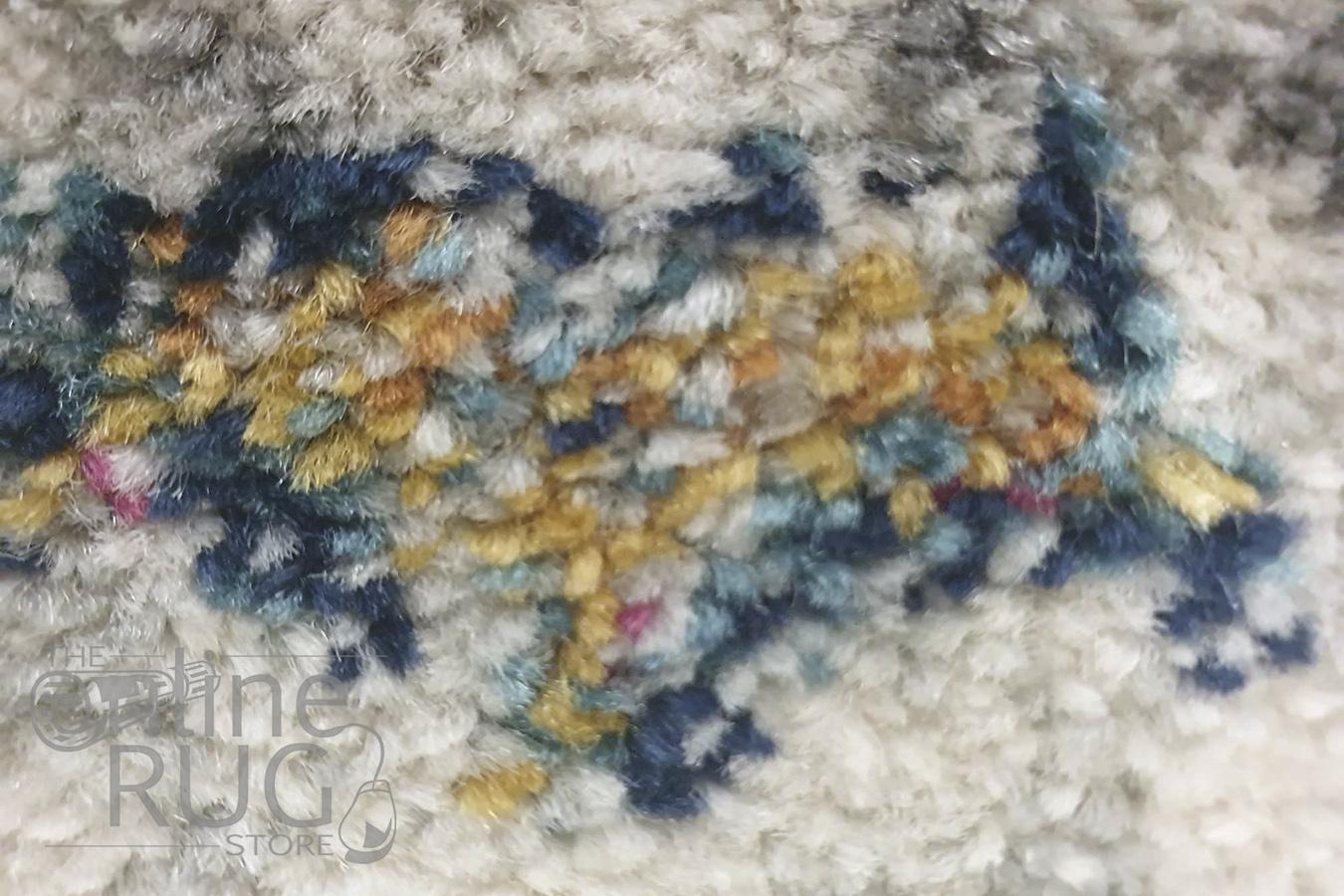Celine Silver Multi Colour Medallion Rug