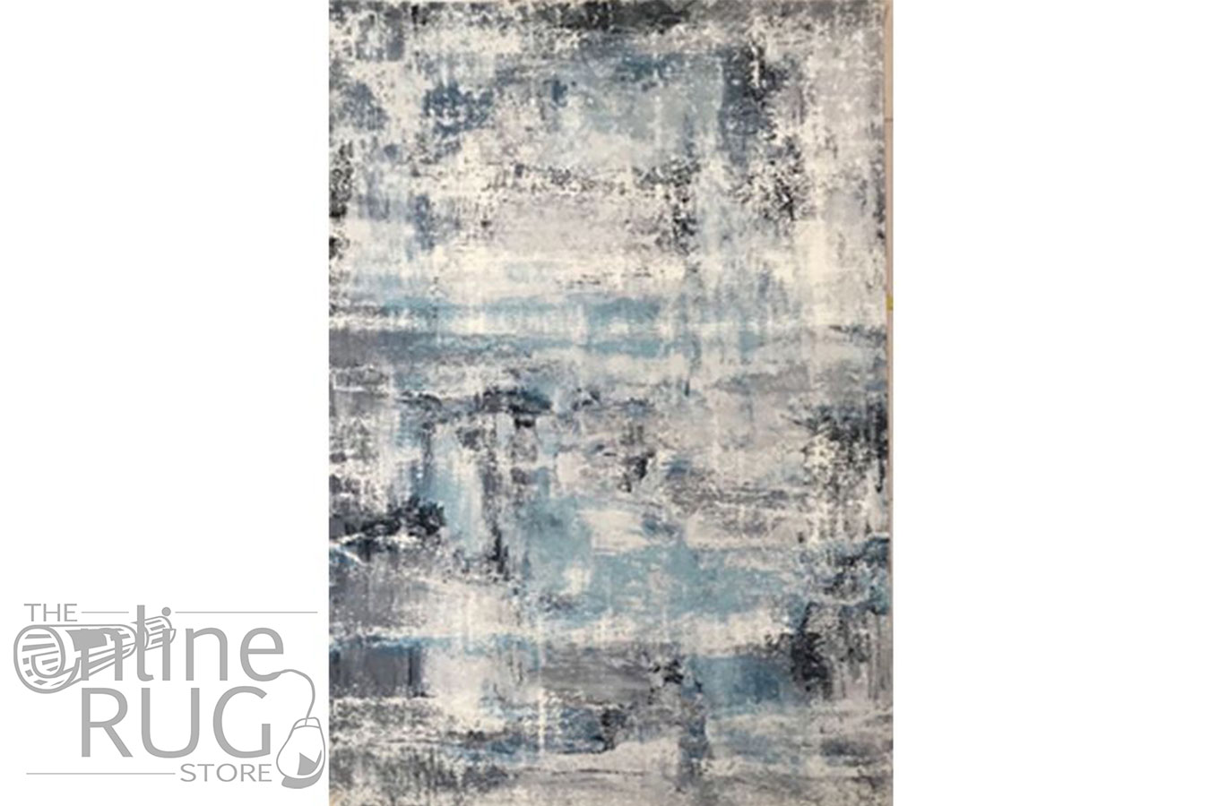 Ariel Blue Abstract Transitional Rug