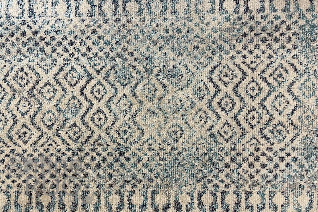 Tula Blue Ivory Aztec Rug