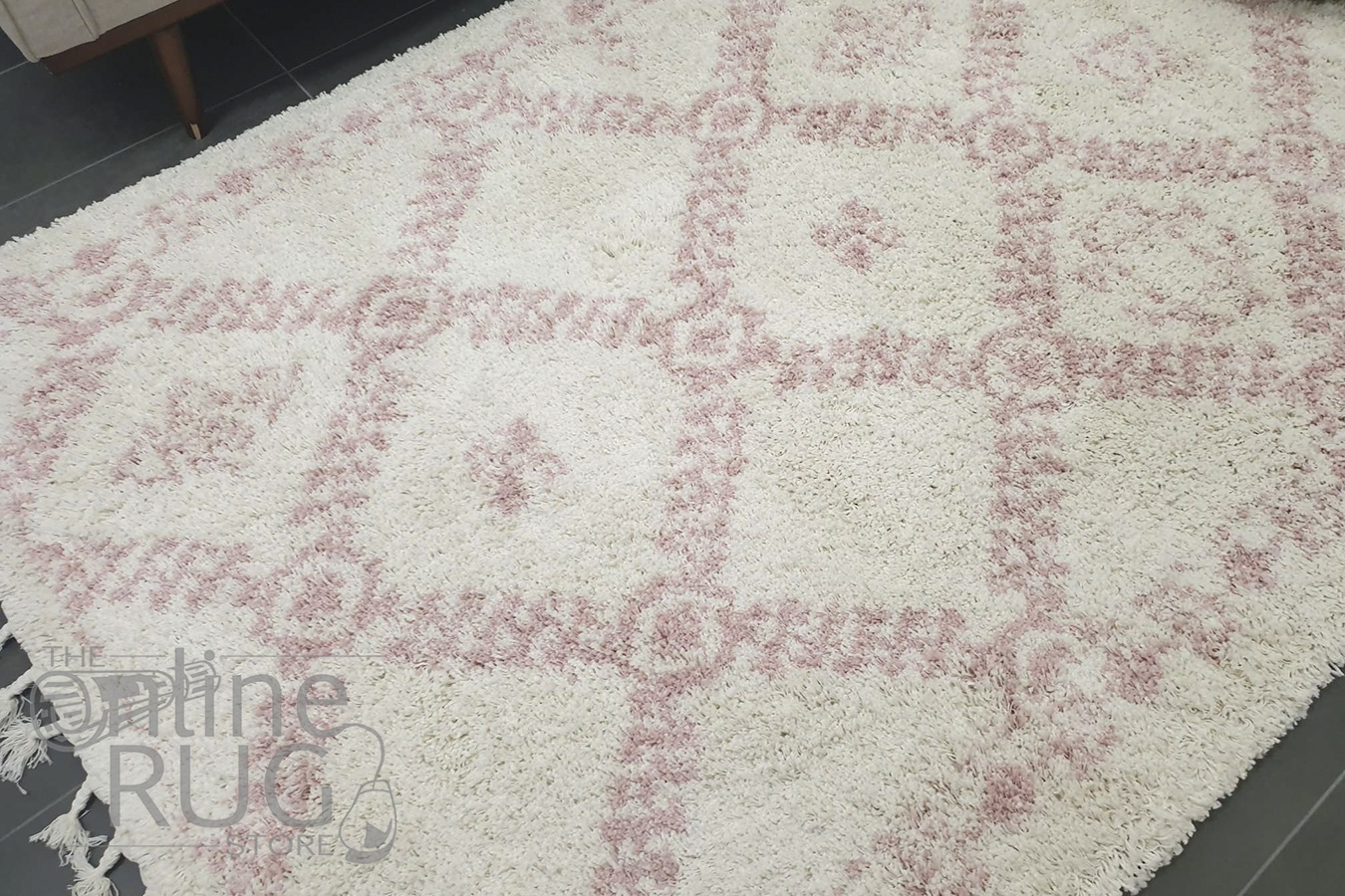 Saffia Pink Ethnic Prints Plush Boho Rug