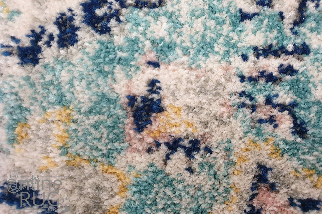 Avalee Blue Pink Medallion Vintage Washed Rugs