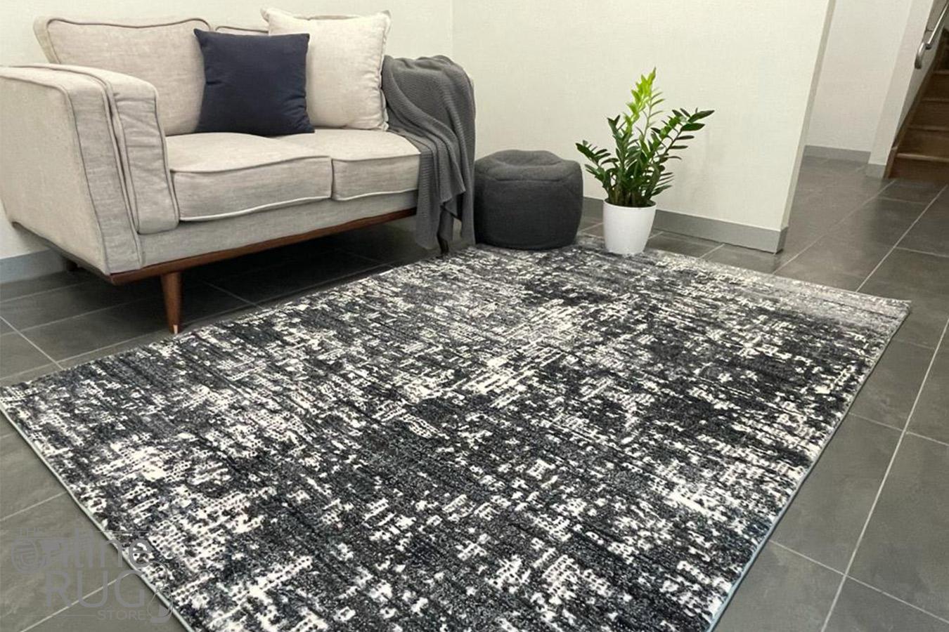 Kalypso Grey Abstract Lines Rug