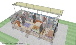 Container Home sketch up ESH-1