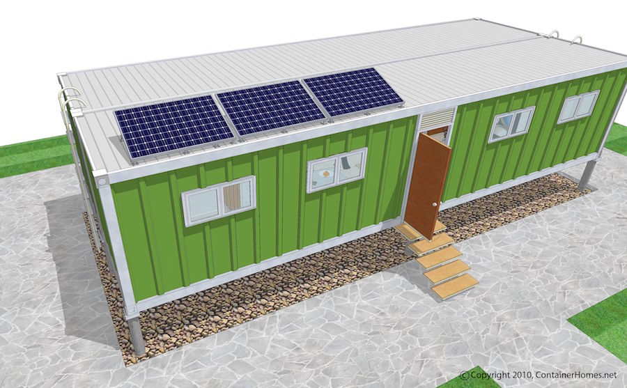 solar panels for shipping container emergency shelters