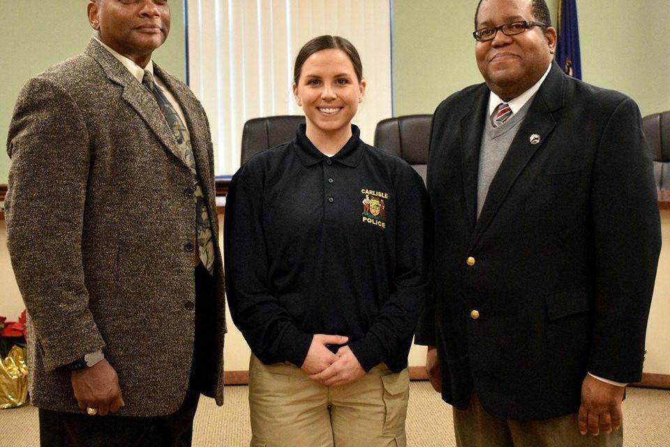 New Carlisle Officer sworn in by Mayor Scott