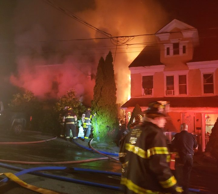 Structure fire at 634 S Market Street in Shamokin, no injuries