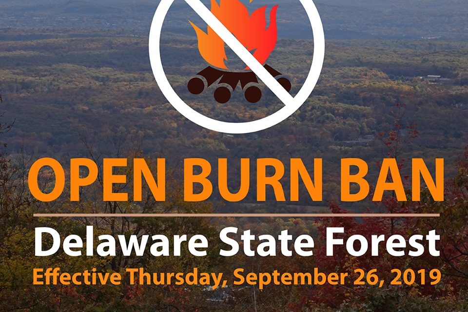 Burn ban impacting Delaware State Forest in Monroe and Pike Counties
