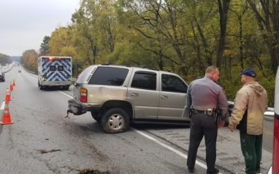 Traffic slowed on I-83 near Shrewsbury this morning following an accident with injuries