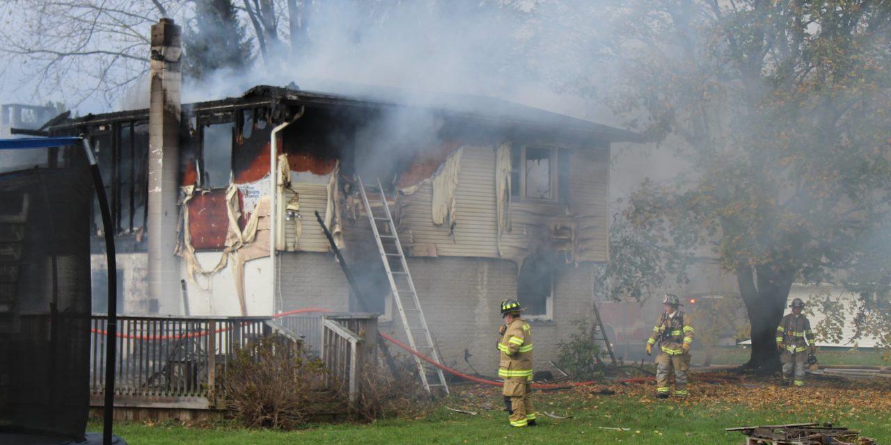 2 alarm fire at Clinton County home Sunday