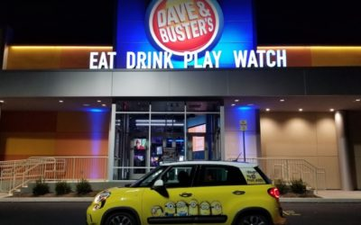 Dave and Buster's fails restaurant inspection; White mildew like growth on shelving in walk-in coolers, no soap at bar hand wash sink